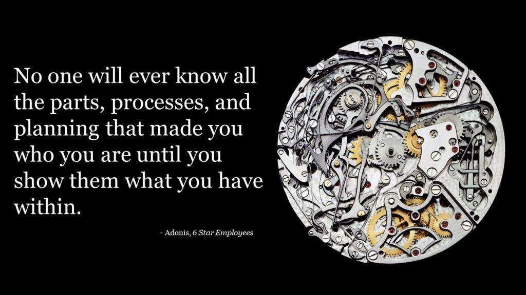 Parts, processes, planning